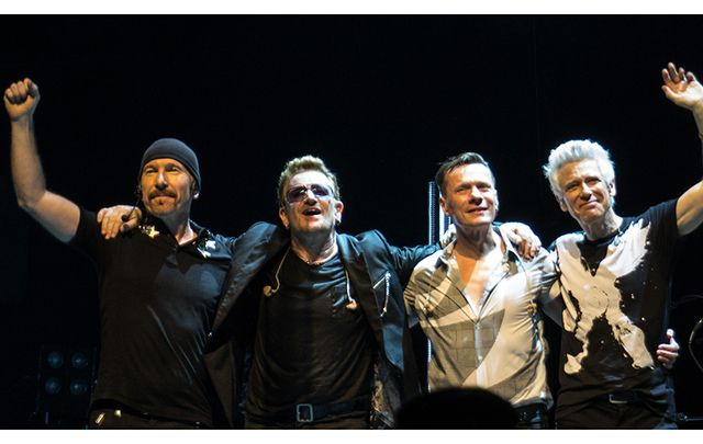 U2 take a bow in Glasgow, June 2015.