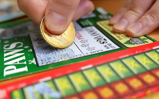 A lottery scratchcard.