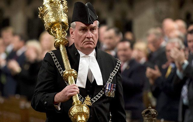 Kevin Vickers serving as Sergeant of Arms in Canada's House of Commons in 2014.