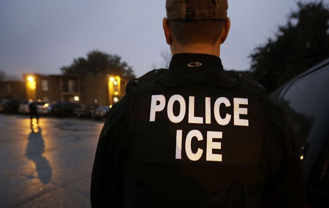 ICE immigration police.