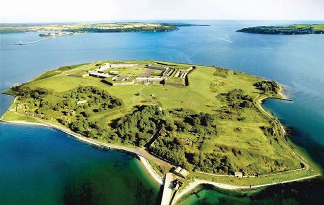 Aerial shot of Spike Island, County Cork.