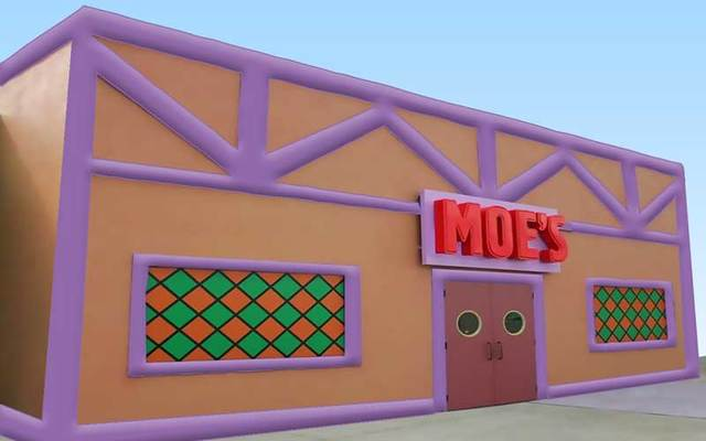 Inflatable Moe's Tavern.