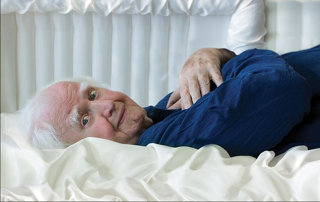 """Promo shot of Malachy McCourt for his new book """"Death Need Not Be Fatal""""."""