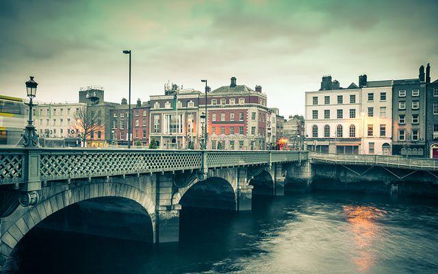 Dublin city center.