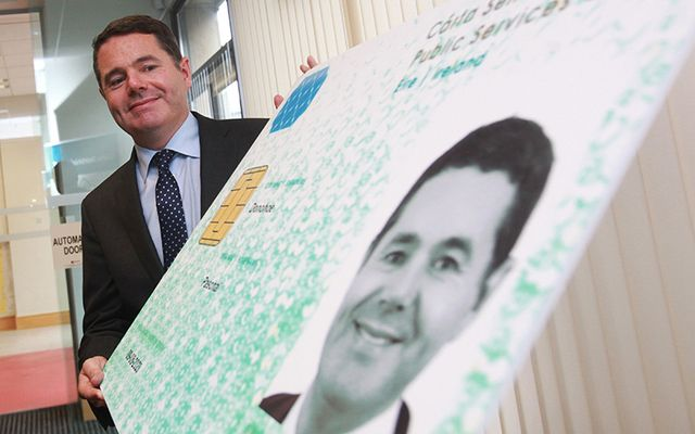 Fine Gael Minister for Public Expenditure and Reform, Paschal Donohoe, TD, at the Public Services Card Centre, D\'Olier House in Dublin today after he registered for a Public Services Card (PSC) with the Department of Social Protection.