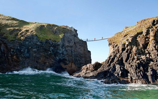 Carrick-a-rede rope bridge in Co. Antrim.