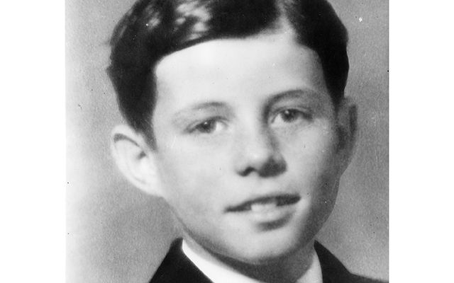 Childhood portrait of John F. Kennedy.