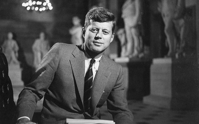John F. Kennedy, photographed in 1957.