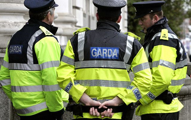 Gardai (Irish police).
