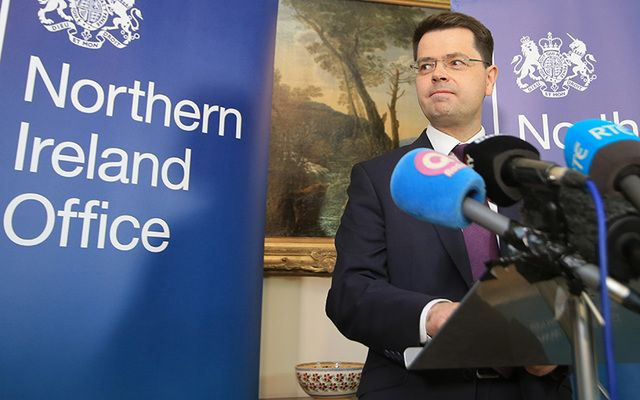 "The Secretary of State for Northern James Brokenshire said he was ""not remotely satisfied\"" the conditions for a border poll had been met. \n"