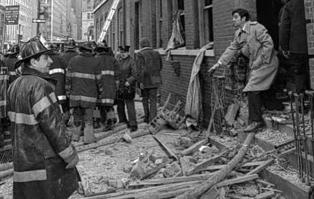 A scene from the 1975 Fraunces Tavern bombing.