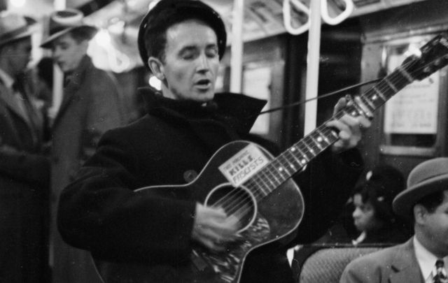 Woody Guthrie, whose life and music inspired a generation of Irish songwriters.