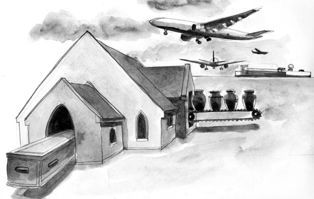 Ireland\'s first crematorium and Shannon airport.