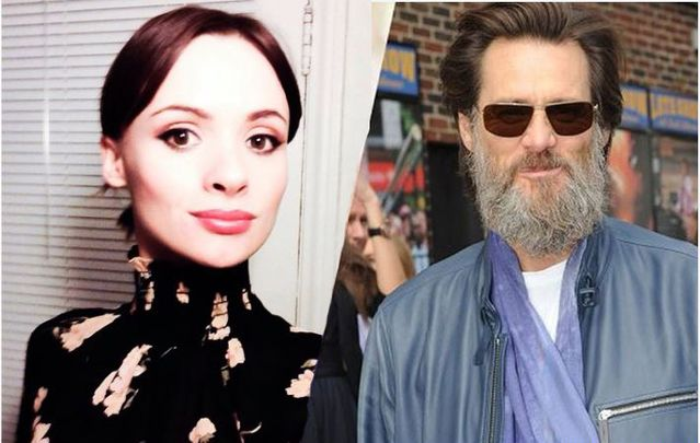 Cathriona White and Jim Carrey.