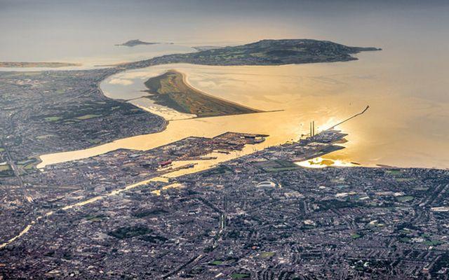 Dublin Bay by air.