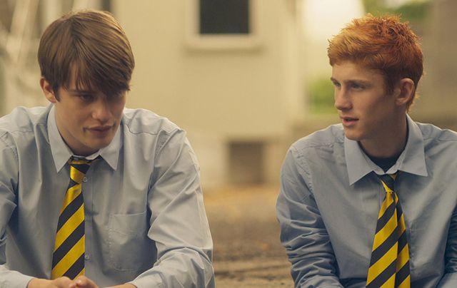 Fionn O'Shea and Nicholas Galitzine rising stars in Handsome Devil.