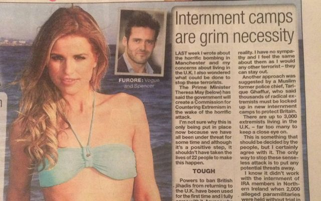 Vogue Williams\' column.