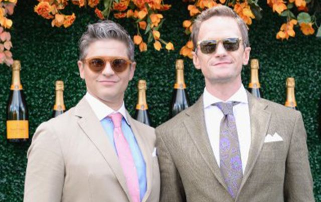 David Burtka and Neil Patrick Harris at the Veuve Clicquot Polo Classic.