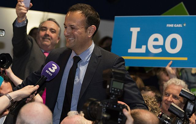 Leo Varadkar acknowledges his supporters after winning the Fine Gael leadership race on Friday.