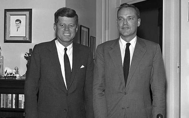 John F. Kennedy and Lem Billings.