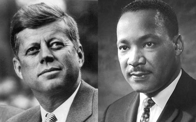 John F. Kennedy and Martin Luther King, Jr.