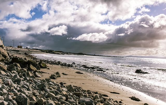 The beautiful Galway Bay in the west of Ireland.