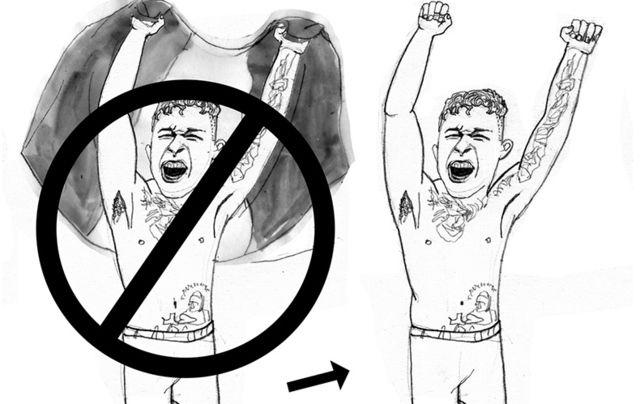 Illustration of MMA fighter James Gallagher.