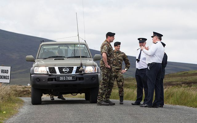 Gardaí search for further remains in the Wicklow Mountains.