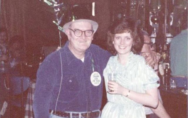 Kathleen Maloney and her father.