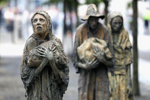 The Famine memorial in Dublin, Ireland