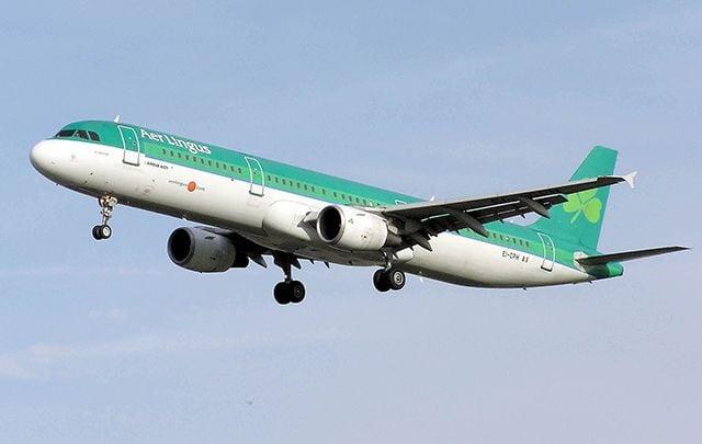 Aer Lingus plane taking off.