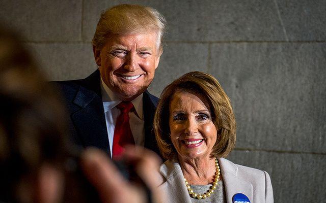 Donald Trump and Nancy Pelosi.