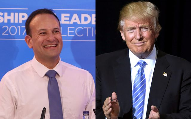 Irish Taoiseach Leo Varadkar and US President Donald J. Trump .