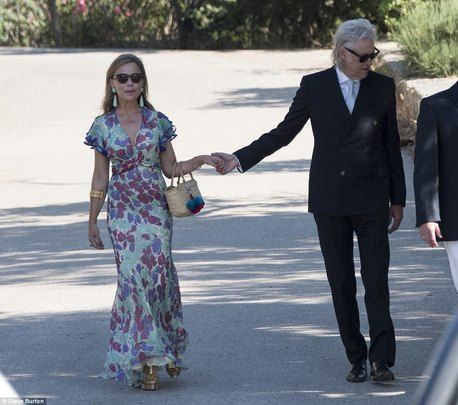 Bob Geldof and wife Jeanne Marine were among the stars at his daughters Spanish wedding
