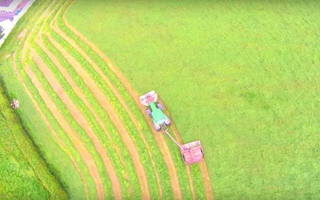 Screen grab of 'The Art of Mowing' video from YouTube.