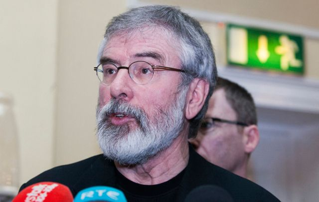 Sinn Féin President Gerry Adams.