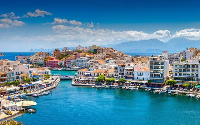 The Greek island of Crete.