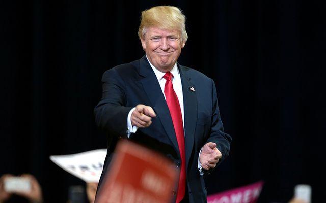 Donald Trump pointing.