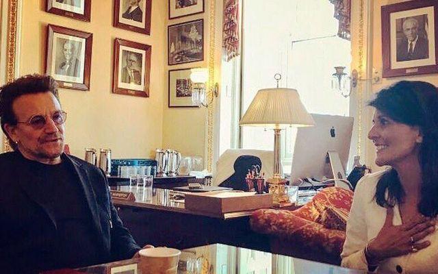 Bono and UN Ambassador Nikki Haley