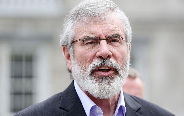 Sinn Fein President Gerry Adams.