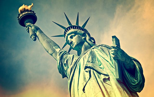 The Statue of Liberty, a symbol of hope to many immigrants.