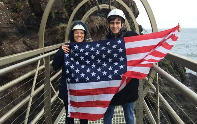 Norwegian Air Fourth of July celebrations on the Gobbins Cliff Path, County Antrim.