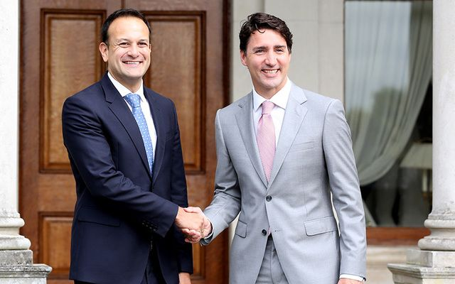 Irish Taoiseach Leo Varadkar and Canadian Prime Minister Justin Trudeau.