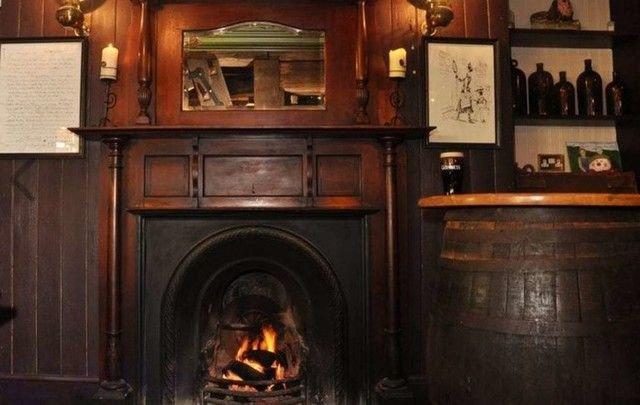 Inside the cosy pub at The Lodge Hotel.