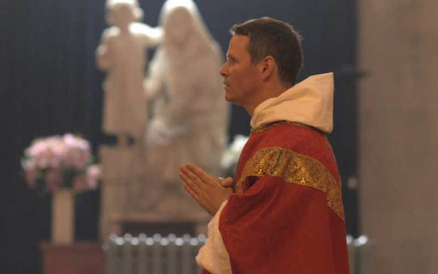 Philip Mulryne, a former Manchester United player and Northern Ireland international, is ordained as a priest for the Dominican Order at St Saviour's Church, Dominican Street, Dublin.