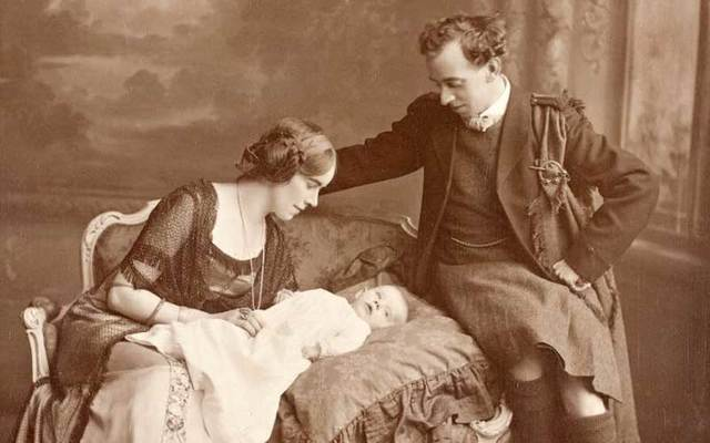 Thomas and Muriel MacDonagh with baby Barbara.
