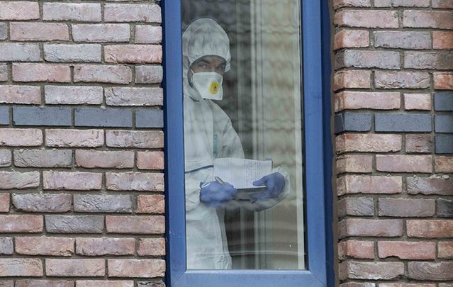Forensic detective spent much of Tuesday morning at the scene of the three-year-old's murder.
