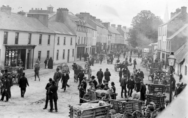 College Street, Killarney, Co. Kerry, where the procession through the town took the released prisoners until they addressed the crowd outside Gleesons Hotel.