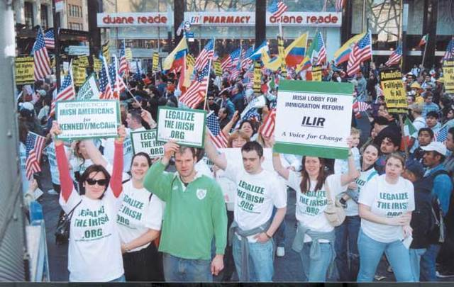Irish Lobby for Immigration Reform protesting some years ago.
