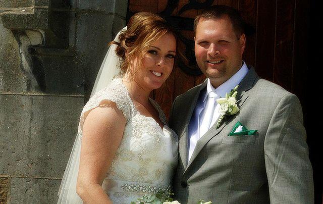 The newlyweds, Kristine Dunn and Carl Thomason.